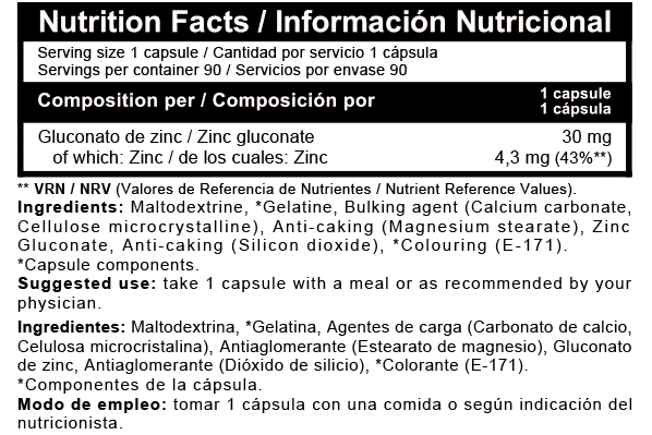 Zinc Quelado Beverly Nutrition