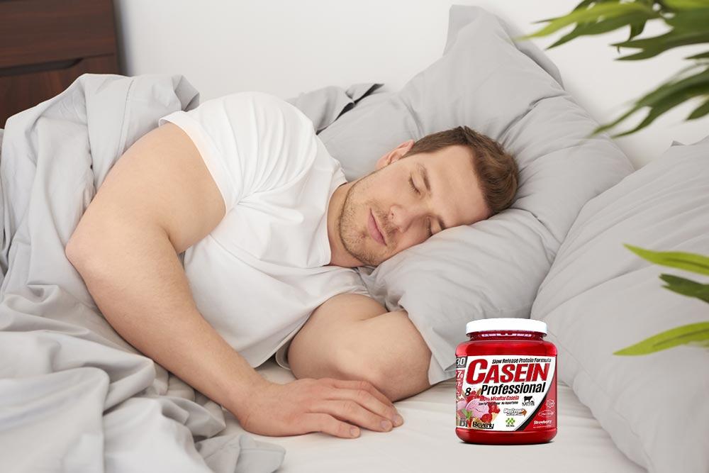 beneficios caseína antes de dormir