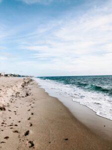 hacer ejercicio en la playa