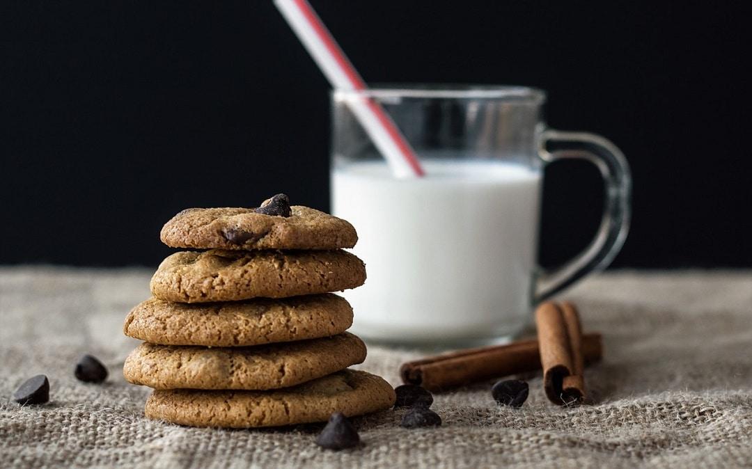 galleta de avena y chispas de chocolate