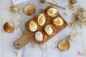 pan de calabaza con huevos y miel