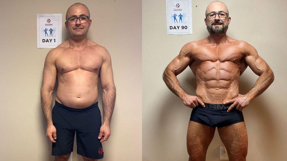 Antes y después: 90 días de entrenamiento / Perder peso luego de los 40 años